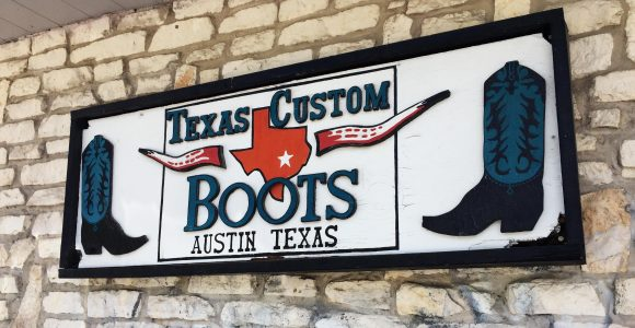 Texas Custom Boots Sign